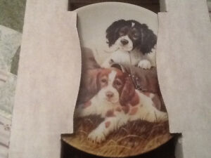 New- Dog collection plates