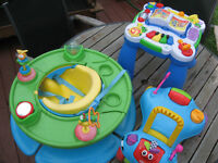 trotteuse, table musicale et bumbo