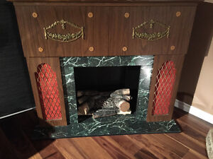 Antique Electric Fire Place with Bar,