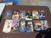 VHS Collection - Lot of 12 HORROR movies on VHS