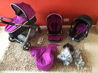 Oyster 2 travel system with maxi Cosi car seat pram buggy stroller trolly