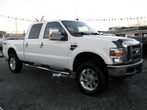 2008 Ford F-350 Lariat Diesel Leather Crew Cab 4x4 Pickup Truck