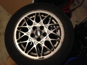 "BBS 15"" rims with tires. Kitchener / Waterloo Kitchener Area image 1"