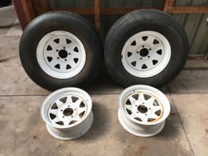 Trailer Rims (One Pair Left)