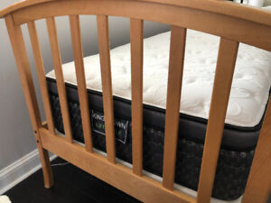 CHILDREN'S BED with MATRESS & BEDSIDE TABLE