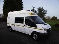 2009 59 FORD TRANSIT 115 PS 6-SPEED LWB MESS TOILET ROOM WELFARE CREW VAN # 88K
