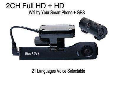 Blacksys Car Black Box 2CH CH-100B Full HD WIFI +HD Rear -16GB + GPS + DC Cable