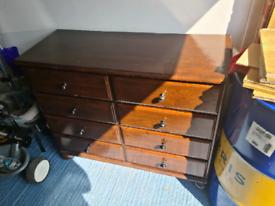 Set of wooden draws