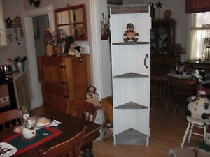 ANTIQUE DOOR CORNER SHELF
