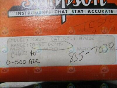 Simpson 1329 07030 Analog Panel Meter 0-500adc New In Box