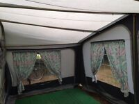 canvas Awning with steel poles