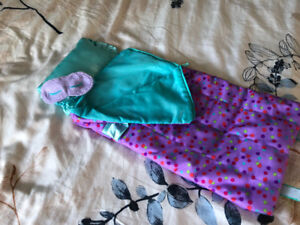 "My Life 18"" doll sleeping bag with sleep mask"