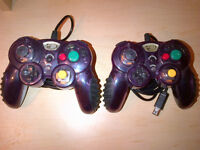 Deux/Two MadCats Nintendo Gamecube Mannettes / Controllers