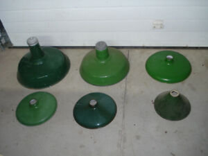 Antique Green Porcelain Finished Metal Light Shades