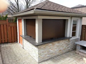 Roll Up Doors & Shutters for Cabana Counters, Sheds, Poolhouses