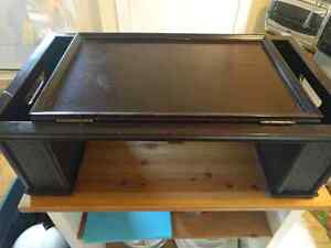 Bed tray / lap table / laptop stand - wooden, dark brown