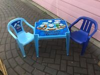 Thomas and Friends table and 2 chairs