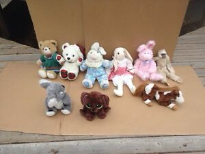 Nine Loveable Medium Size Stuffies