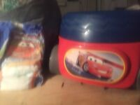 Disney cars potty comes with a large bag of pull ups
