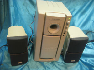 Powered Eastern Sub-woofer with swiveling Speakers