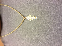 Lost gold chain and crucifix
