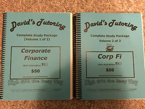 David's Tutoring - Corporate Finance (FIN 2200)