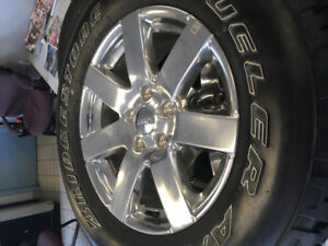 5 x Jeep Wrangler Wheels With Brand New Tires 5x127 Bolt Pattern