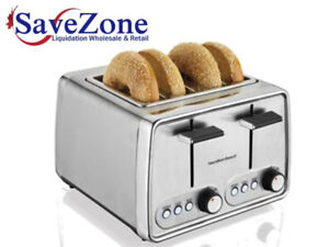 HB 4 Slice Stainless Steel Toaster- Warehouse Clearance