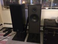 Mirage M460 Stereo Speakers with matching metal stands