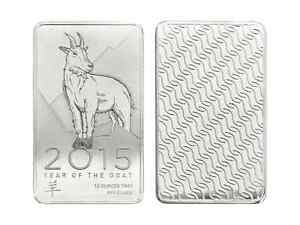 Bar en argent/silver 10 oz NTR year of the goat 2015
