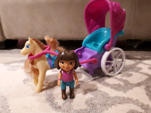 Dora horse and carriage