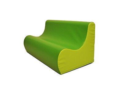 Divanetto divano morbido per cameretta bimbi bambini gioco giochi col verde