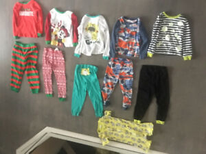 Boy size 5T - toddler boy pajamas $20 for all - like new