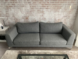 Design gray sofa and  chair - Mint condition - Urgent