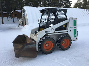 BOBCAT 642B with backhoe attachment