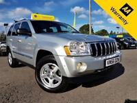 2007 JEEP GRAND CHEROKEE 3.0 V6 CRD LIMITED 5D 215 BHP! AUTO+FSH+79KMILES+LEATHR