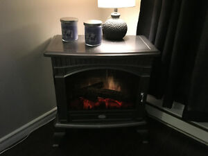 Energy efficient fireplace!! Very real looking flames