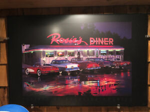 Lighted pictures for home or bar