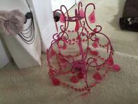 Next pink chandelier pendant