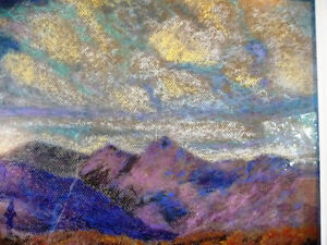Original British Lake District Pastel by Billie Appleton 1987 Stratford Kitchener Area image 7
