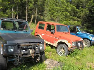 Suzuki samurai with part cars