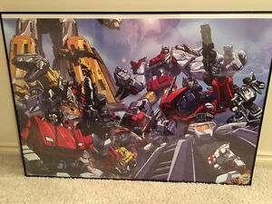 TRANSFORMER DREAMWAVE FRAMED POSTERS