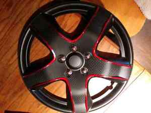 New 18inch hubcap wheel covers Matte black set of 4