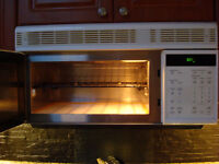 GE Profile Microwave/Convection over counter vent fan