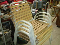 LAWN CHAIRS SET OF  4