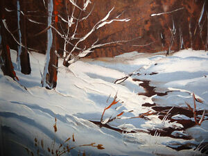 "Listed,Heinz V. Pundleider ""Creek In Merivale"" Original Oil 1978 Stratford Kitchener Area image 8"