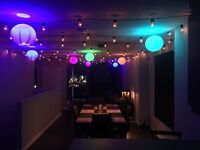 Patio Lights on dimmers - LED - Wedding - Party Lighting - Tents