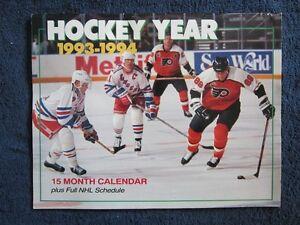 Hockey Year 1993-1994 15 Month Calendar