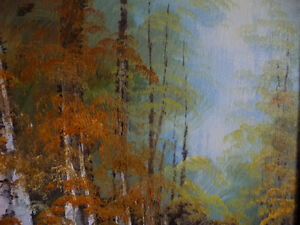 """Forest Sanctuary, Landscape by Paul Cho """"Woodland Stream"""" 1970's Stratford Kitchener Area image 7"""