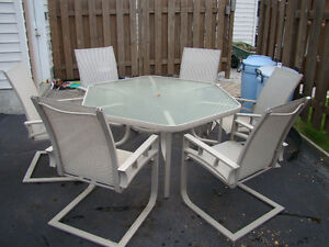 Patio set Table with six chairs